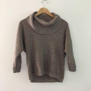 International concept metallic cowl neck Sweater